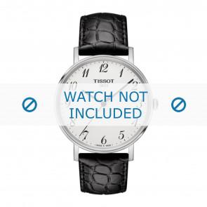 Tissot cinturino dell'orologio T109.410.16.032.00 - T600039639 Pelle di coccodrillo Nero 19mm + cuciture nero