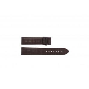 Tissot cinturino dell'orologio T065.430.A - T610029096 / T065.430.160.310.0 Pelle di coccodrillo Marrone 19mm