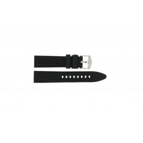 Cinturino per orologio Universale 5809.01 Silicone Nero 20mm
