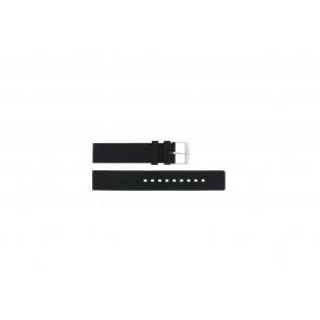 Cinturino dell'orologio 21901.01.18 / 6826 Silicone Nero 18mm