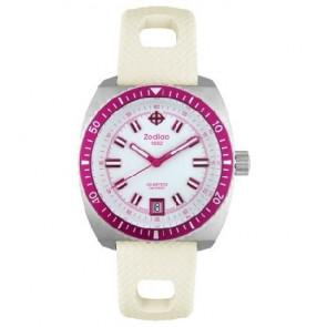 Zodiac cinturino dell'orologio ZO2269 Gomma Bianco